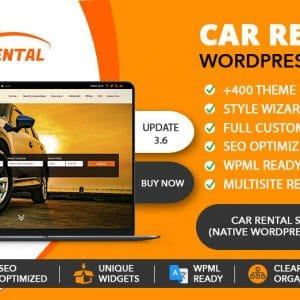Tema para WordPress de alquiler de coches